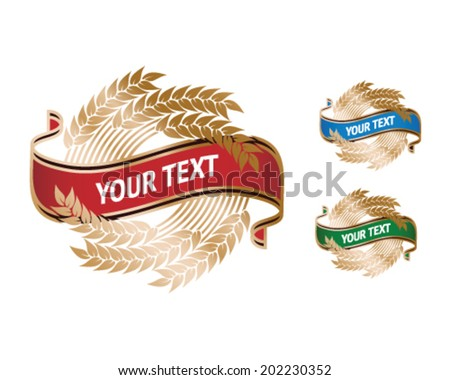 wheat crest - alcohol / bakery  - stock vector