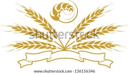 Wheat Emblem - stock vector