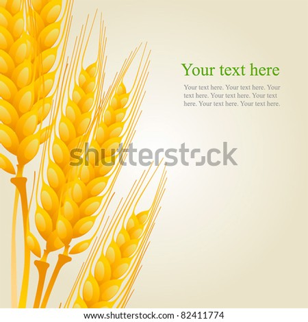 wheat on the light background - stock vector