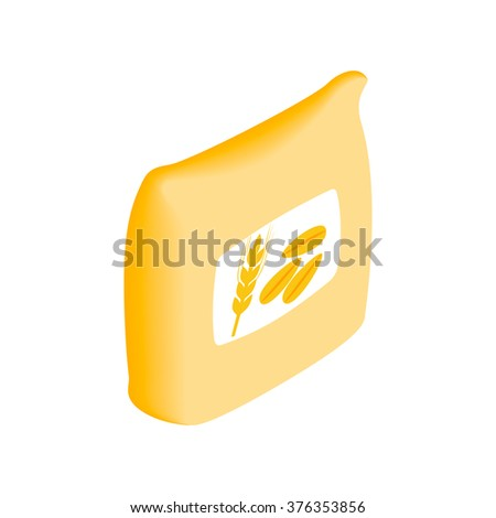Wheat seeds isometric 3d icon on a white background - stock vector