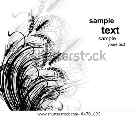 wheat. vector background