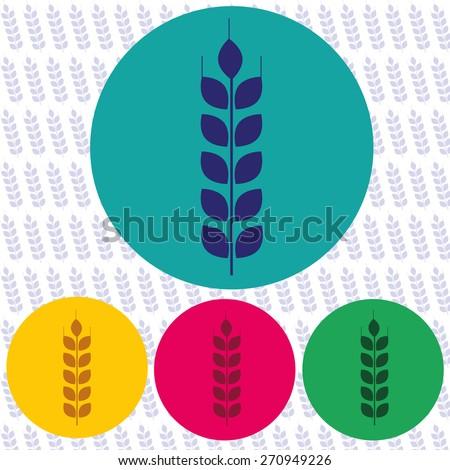 Wheat vector icon - stock vector