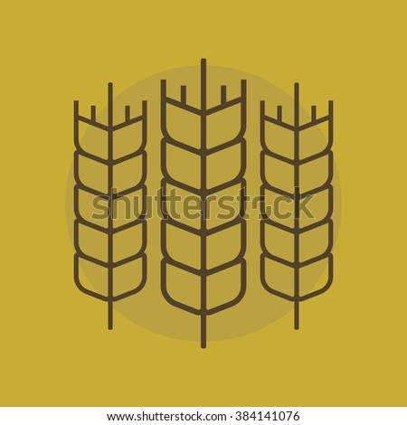 Wheat vector sign. Wheat logo. Wheat simbol on a flat style. Organic logo. Agriculture concept - stock vector