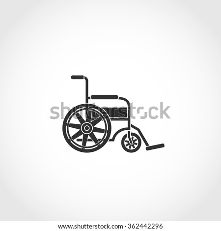 wheel chair web icon. Airport navigation sign - stock vector