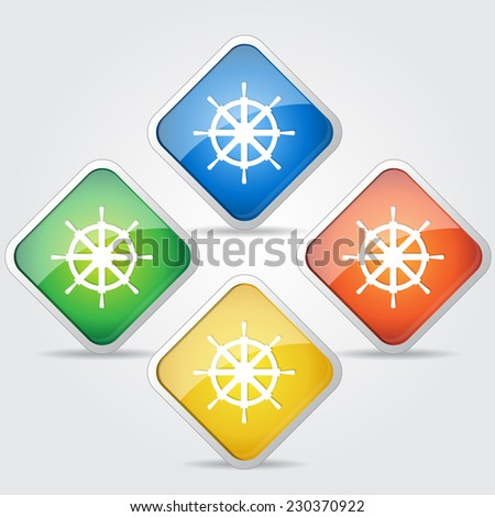Wheel Colorful Vector Icon Design