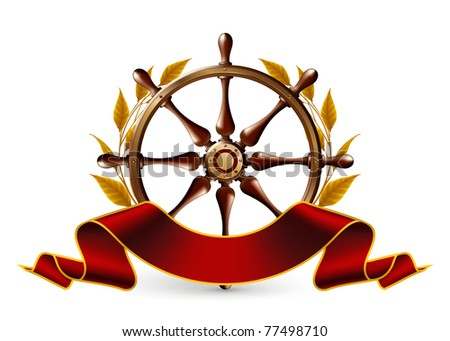 Wheel Emblem, vector - stock vector