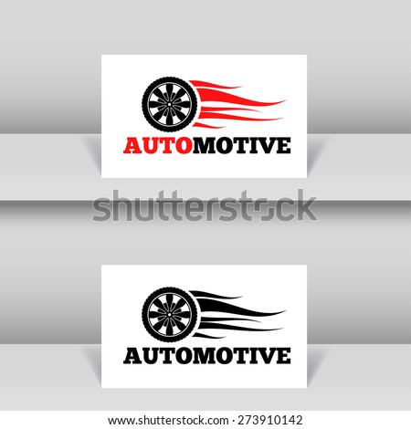 Wheel in Fire flame Logo design vector template. Concept icon for race, auto repair service, tire shop. - stock vector