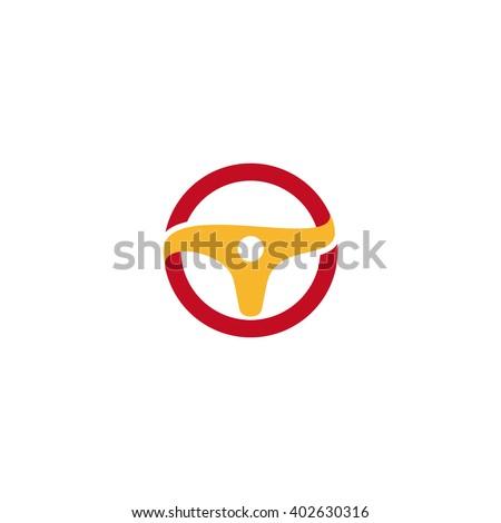 Wheel logo. Vector orange logo. Car logo. Taxi logo. Speedometer icon. Speed logo. Racing logo. Turn logo.Rally logo. Drift logo. Speed logo. Wheel icon. Car icon. Auto logo.Taxi icon.Speedometer logo - stock vector