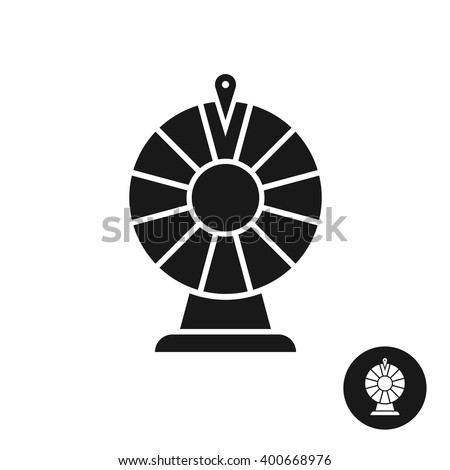 Wheel of fortune black icon symbol. Simple one color sign. - stock vector
