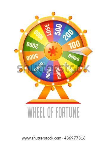 Wheel of fortune infographic design element. Flat style vector illustration isolated on white background. - stock vector