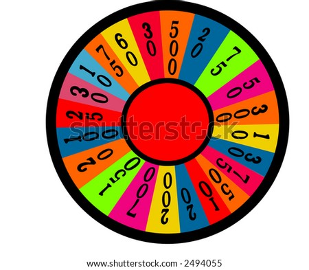 wheel of fortune room for your text  vector - stock vector