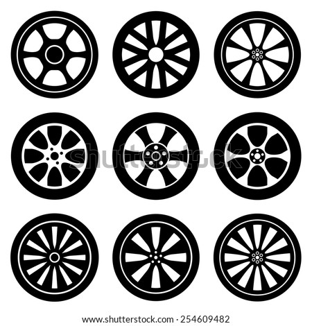 Wheel Rims - stock vector