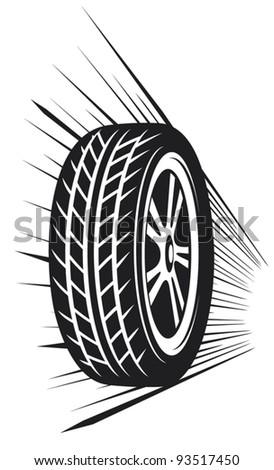 wheel (vector tyre) - stock vector