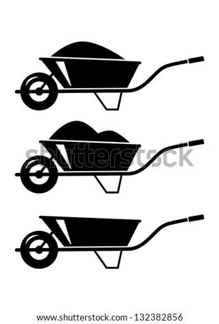 Wheelbarrow icon Stock...