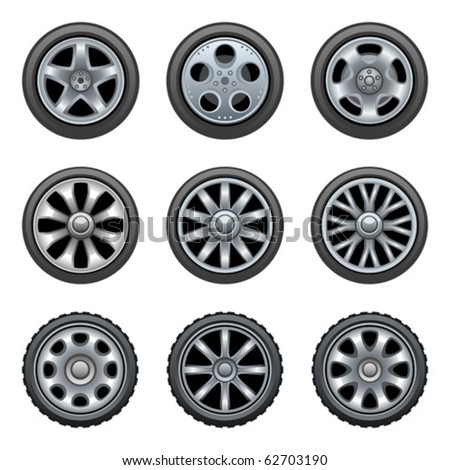 Wheels - stock vector