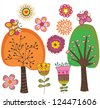 When spring arrive - stock vector