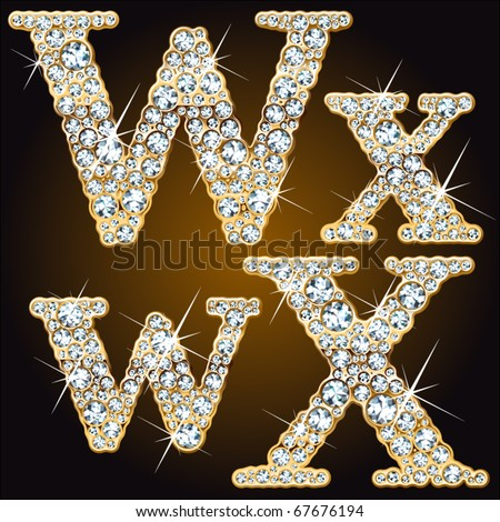 Whimsical characters of diamonds in a gold ingot - stock vector