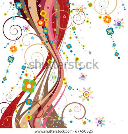 whimsical christmas decoration - stock vector