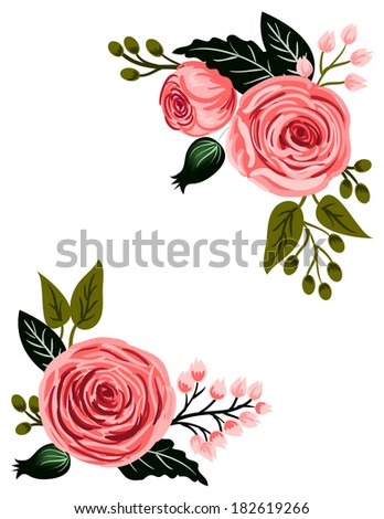 Flower In The Corner Stock Images Royalty Free Vectors