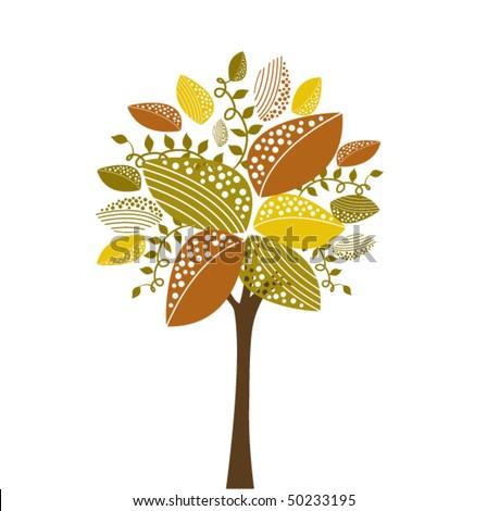 Whimsical tree - stock vector