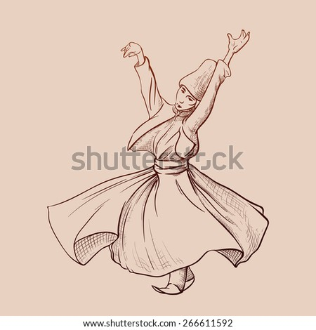 Dervish Dance Drawing Whirling Dervish Dancing is