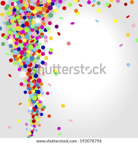 whirlwind of multicolored confetti