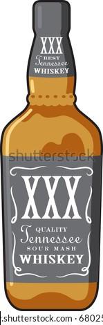 whiskey bottle - stock vector