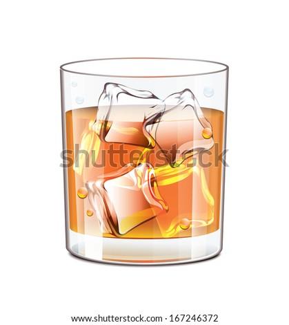 Whiskey Glass - stock vector