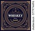 whiskey label vintage design...