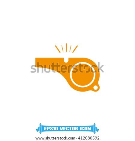 Whistle Icon. Whistle Icon Object. Whistle Icon Picture. Whistle Icon Image. Whistle Icon Graphic. Whistle Icon JPG. Whistle Icon EPS10. Whistle Icon Web - stock vector