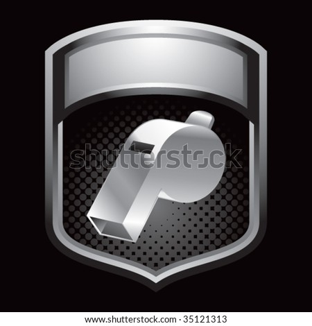 whistle on display crest - stock vector