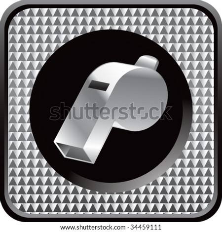 whistle on interesting web button - stock vector