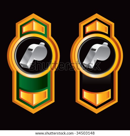 whistle on royal crest - stock vector