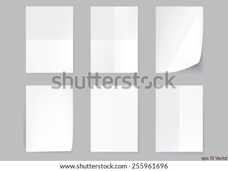 White A4 size paper sheet, Vector - stock vector