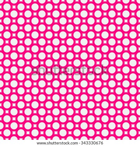 White abstract background with seamless magenta donuts for design concepts, posters, banners, web, presentations and prints. Vector illustration. - stock vector
