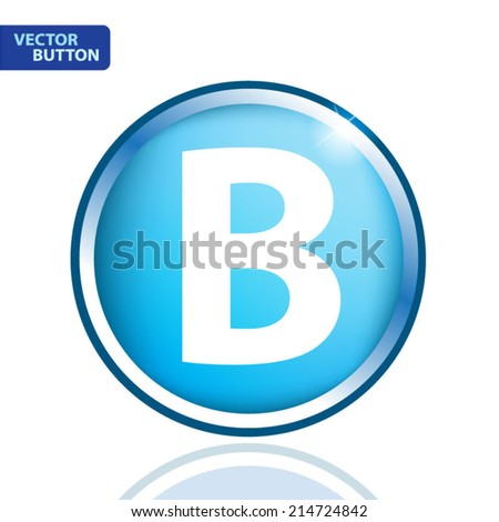 white alphabet on blue background