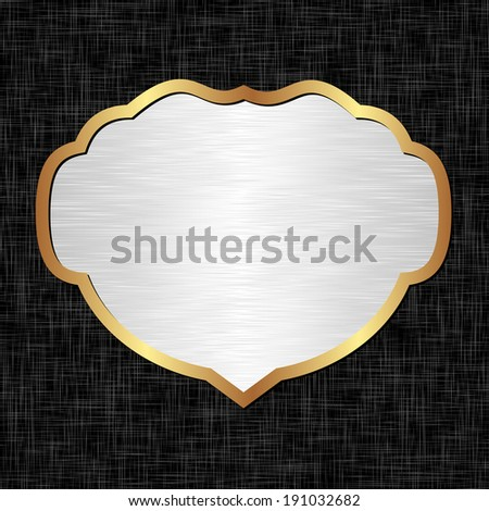 white and black background with golden frame