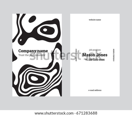 White black doublesided business card template stock vector white black doublesided business card template stock vector 671283688 shutterstock flashek Choice Image