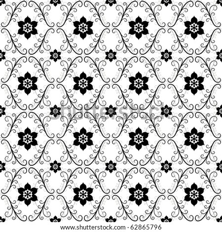White and black-grey vintage seamless pattern (vector) - stock vector