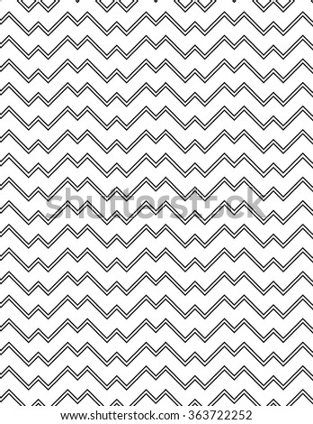 White and black line pattern background - stock vector