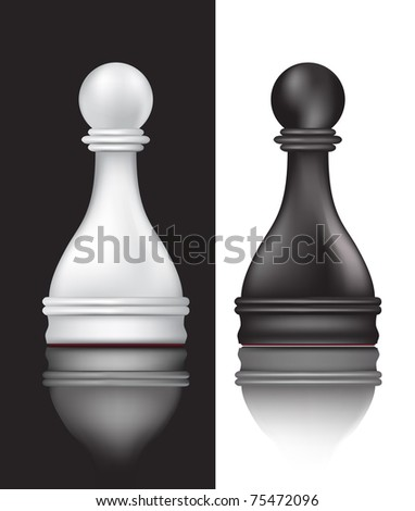 white and black pawns