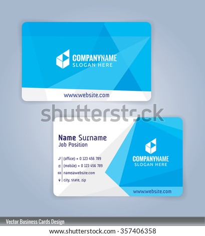 White blue modern business card template stock vector 357406358 white and blue modern business card template illustration vector 10 wajeb Images