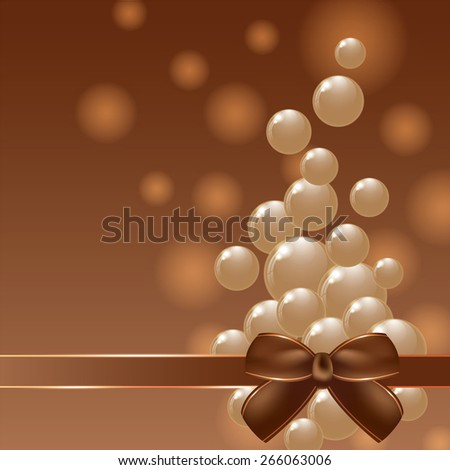 White and dark chocolate balls on colorful background. Cover chocolate sweets box background. Vector illustration. - stock vector