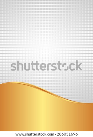 white and gold background divided into two - stock vector