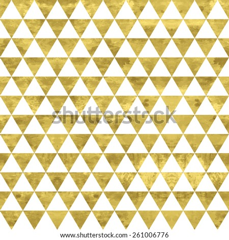 White and gold  pattern. Abstract geometric modern background. Vector illustration.Shiny backdrop. Texture of gold foil. - stock vector