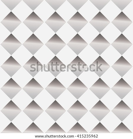 White and gray background with seamless design of patterned hole - stock vector
