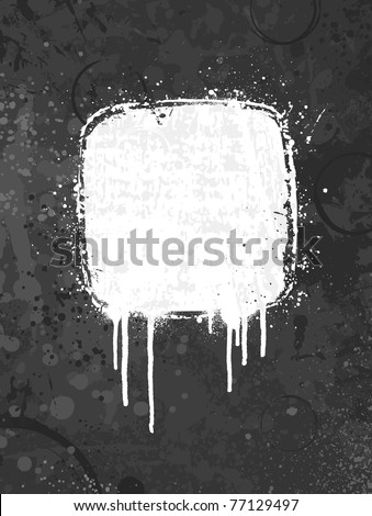 White and gray spray paint grunge background design - stock vector