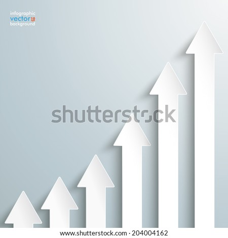 White arrows on the grey background. Eps 10 vector file. - stock vector