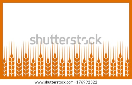 white background with abstract wheat ears and place for text - stock vector