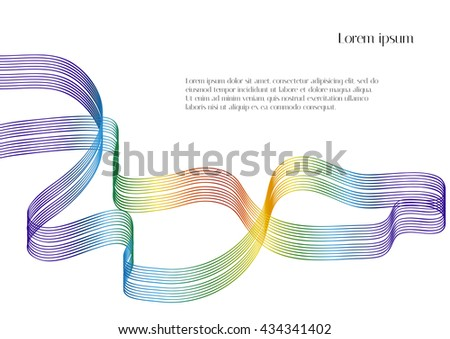 White background with rainbow ribbon - stock vector